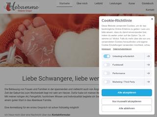 Vorschaubild der Webseite von Hebamme Melanie Gregor