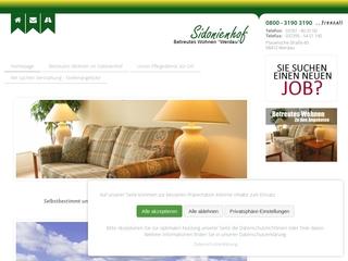 Vorschaubild der Webseite von Betreutes Wohnen im Sidonienhof