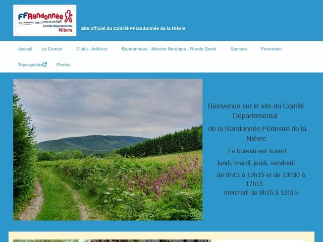 FFR Randonnée dans la Nièvre