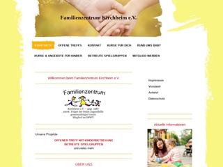Vorschaubild der Webseite von Familienzentrum Kirchheim