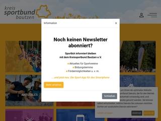 Vorschaubild der Webseite von Sportbund Sachsen