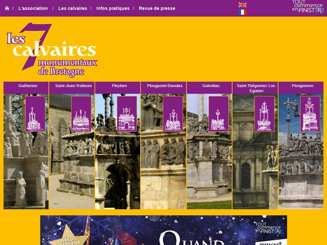 Les 7 calvaires monumentaux de Bretagne