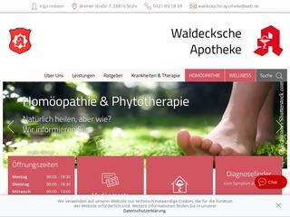 Vorschaubild der Webseite Waldecksche-Apotheke