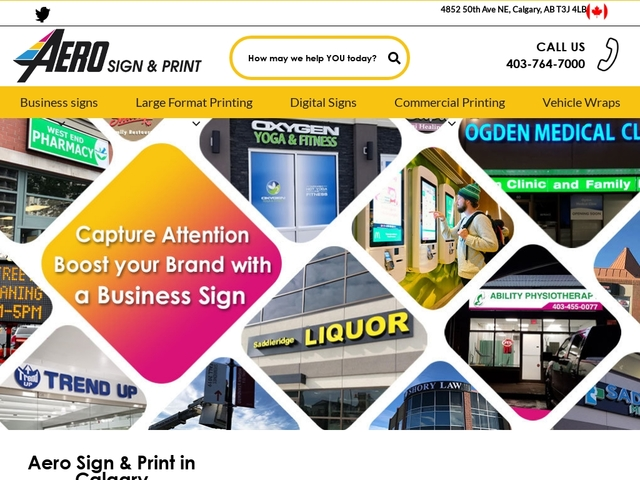 Aero Sign & Print - Captures audience attention & Boost your brand!