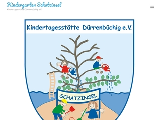 Vorschaubild der Webseite von Kindertagesstätte Dürrenbüchig e.V.  Schatzinsel