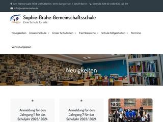 Vorschaubild der Webseite von Sophie-Brahe-Gemeinschaftsschule