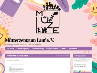 Vorschaubild der Webseite von Mütterzentrum Lauf e.V.