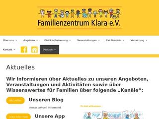 Vorschaubild der Webseite von Mütterzentrum Klara e.V.