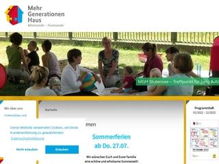 Vorschaubild der Webseite von Mehrgenerationenhaus Bürgerwerksatt Stutensee e.V.