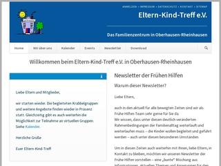 Vorschaubild der Webseite von Eltern-Kind-Treff e.V.