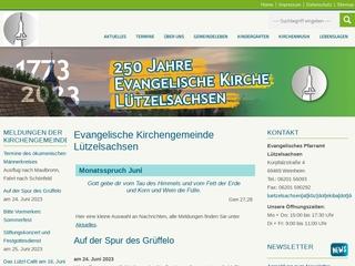 Vorschaubild der Webseite von Ev. Kindergarten Lützelsachsen
