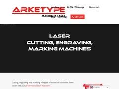 Machines laser C02, plasma, fraiseuses CNC - gravure, découpe, marquage - Arketype