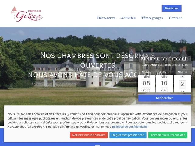 Château de Gizeux Chambres et table d'hôte