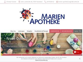 Vorschaubild der Webseite von Marien-Apotheke