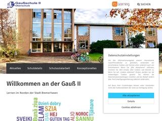 Vorschaubild der Webseite von Gaußschule II