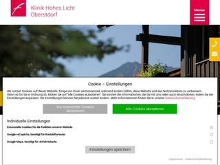 Vorschaubild der Webseite von Klinik für Frauen Hohes Licht