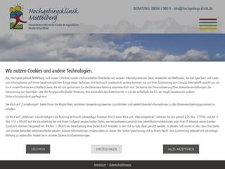 Vorschaubild der Webseite von Mutter-Kind-Kurhaus Hochgebirgsklinik Mittelberg