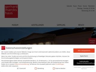 Vorschaubild der Webseite von Gerhard-Marcks-Haus