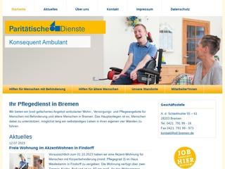 Vorschaubild der Webseite von Paritätische Dienste Bremen gGmbH - Haus Weidedamm