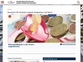 Vorschaubild der Webseite von Die Senatorin für Soziales, Kinder, Jugend und Frauen - Behindertenpolitik