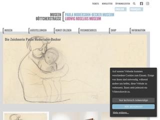 Vorschaubild der Webseite von Roselius-Haus