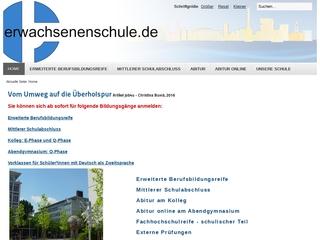 Vorschaubild der Webseite von Erwachsenenschule - Schulzentrum für Erwachsene