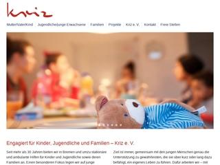 Vorschaubild der Webseite von Kriz e.V - Mutter/Kind Einrichtungen