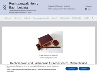 Vorschaubild der Webseite von Rechtsanwalt Henry Bach