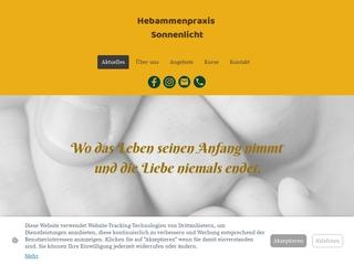 Vorschaubild der Webseite von Hebammenpraxis Sonnenlicht