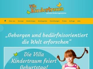 Vorschaubild der Webseite von Private Kindertagesstätte Villa Kindertraum
