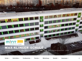Vorschaubild der Webseite von Max-Klinger-Schule-Gymnasium