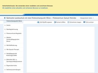 Vorschaubild der Webseite von Sächsische Landesschule für Hörgeschädigte Leipzig Förderzentrum Samuel Heinicke