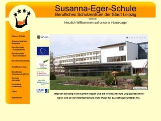 Vorschaubild der Webseite von Susanna-Eger-Schule - Berufliches Schulzentrum der Stadt Leipzig