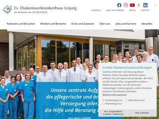 Vorschaubild der Webseite von Krankenpflegeschule der Ev. Diakonissenkrankenhaus Leipzig gGmbH
