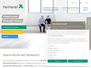 Vorschaubild der Webseite von Sozialpflegeschulen Heimerer gGmbH