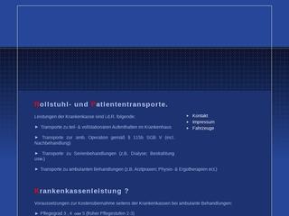 Vorschaubild der Webseite von Behindertenfahrdienst Rollitrans - Rollstuhl- und Patiententransporte