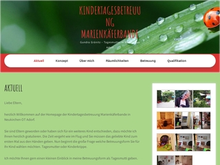 Vorschaubild der Webseite von Kindertagespflege Marienkäferbande