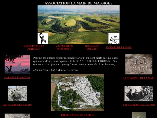 Site officiel de l'association La Main de Massiges
