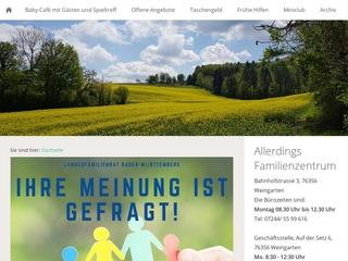 Vorschaubild der Webseite Allerdings-Familienzentrum Weingarten e. V.
