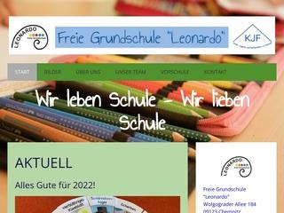Vorschaubild der Webseite von Freie Grundschule Leonardo