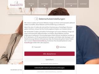 Vorschaubild der Webseite von Residenz Ambiente - Altenpflege stationär