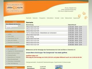 Vorschaubild der Webseite von Familienverein für Groß und Klein in Chemnitz e.V. - Außenstelle