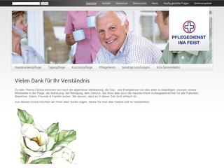 Vorschaubild der Webseite von Tagespflege Ina Feist