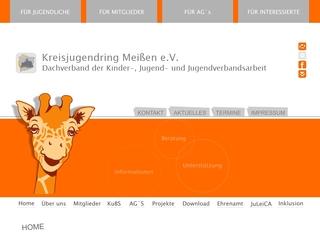 Vorschaubild der Webseite Koordinations- und Beratungsstelle Kreisjugendring Meißen e.V.