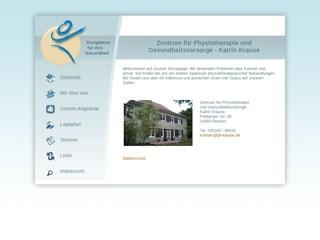 Vorschaubild der Webseite Zentrum für Physiotherapie und Gesundheitsvorsorge Katrin Krause