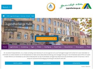 Vorschaubild der Webseite Jugendherberge Halle