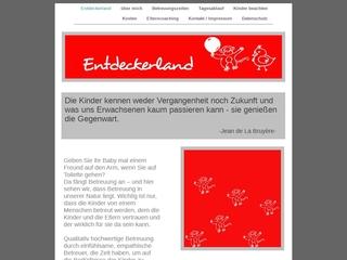Vorschaubild der Webseite von Kindertagespflege Entdeckerland