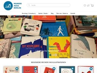 Vorschaubild der Webseite von Internationale Kinderbuchhandlung mundo azul