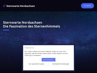 Vorschaubild der Webseite Sternwarte Nordsachsen-Astrozentrum Schkeuditz