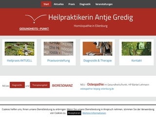 Vorschaubild der Webseite von Heilpraktikerin Eilenburg Antje Gredig